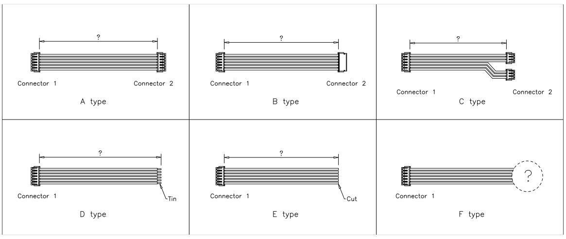 JST ZH Connector cable assemblies